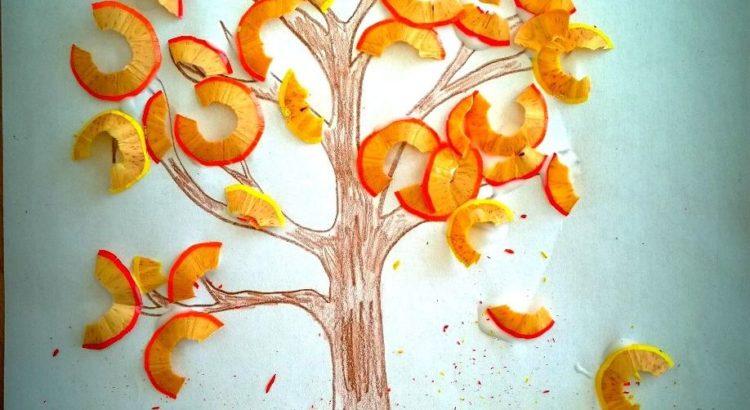 Representación de un árbol con restos de lápiz