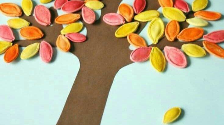 Representación de un árbol con semillas